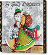 Old World Santa Clause Christmas Art Original Painting By Megan Duncanson Acrylic Print