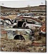 Old Wrecks Acrylic Print