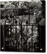 Olde Victorian Gate Leading To A Secret Garden - Peak District - England Acrylic Print