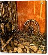 Olden Days Acrylic Print by Claudette Bujold-Poirier