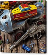Older Roller Skate And Toys Acrylic Print
