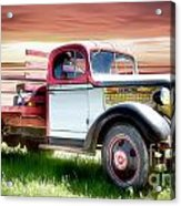 Oldsmobile Sunset Acrylic Print by Shannon Rogers