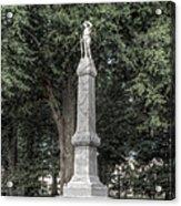 Ole Miss Confederate Statue Acrylic Print