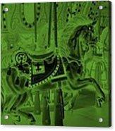 Olive Green Horse Acrylic Print