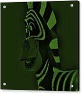Olive Zebra Acrylic Print