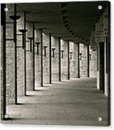 Olympiastadion Berlin Corridor Acrylic Print