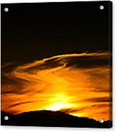 Olympic Mountain Sunset Photography Acrylic Print