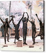 Olympic Wannabes Sculpture By Glenna Goodacre Near Infrared Acrylic Print