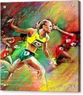 Olympics 100 Metres Hurdles Sally Pearson Acrylic Print