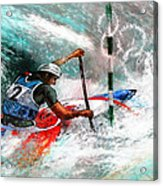 Olympics Canoe Slalom 02 Acrylic Print by Miki De Goodaboom