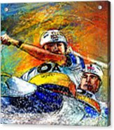 Olympics Canoe Slalom 04 Acrylic Print by Miki De Goodaboom