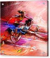 Olympics Heptathlon Hurdles 01 Acrylic Print