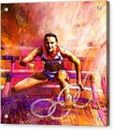 Olympics Heptathlon Hurdles 02 Acrylic Print