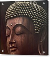 Om Mani Padme Hum  - Buddha Acrylic Print