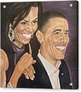 Ombience Of Love The Obama Acrylic Print