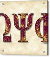 Omega Psi Phi - Parchment Acrylic Print