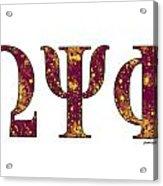 Omega Psi Phi - White Acrylic Print