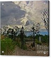 Ominous Boothill Cemetery Acrylic Print