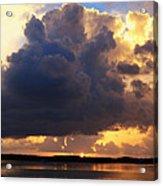 Ominous Cloud At Sunset Acrylic Print