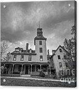Ominous Clouds At Batsto Village Bw Acrylic Print
