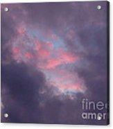 Ominous Clouds Surrounding A Beautiful Sunset 3 Acrylic Print