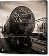 Ominous Train Under Dark Skies In New Orleans Acrylic Print by Louis Maistros