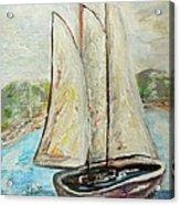 On A Cloudy Day - Impressionist Art Acrylic Print