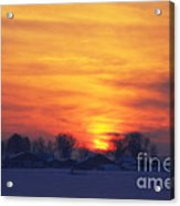 On A Cold Winter Evening Acrylic Print