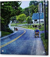 On A Country Road - Lancaster - Pennsylvania Acrylic Print
