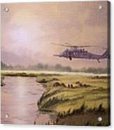 On A Mission - Hh60g Helicopter Acrylic Print