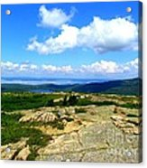 On A Mountain In Maine Acrylic Print