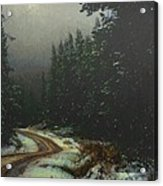 On A Snowy Evening Acrylic Print