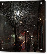 On A Walk In The Snow - Grants Pass Acrylic Print