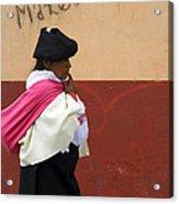 On An Errand In Otavalo Acrylic Print