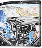 On Board Colin Mcrae Acrylic Print