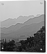 On Distant Heights Acrylic Print by Olivia Blessing