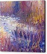 On Frozen Pond Acrylic Print