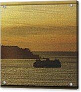 On Golden Sound Acrylic Print