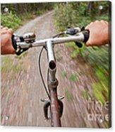 On My Mountain Bike Acrylic Print