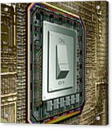 On Off Switch On Circuits Acrylic Print