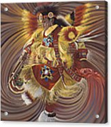 On Sacred Ground Series 4 Acrylic Print by Ricardo Chavez-Mendez