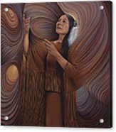 On Sacred Ground Series V Acrylic Print by Ricardo Chavez-Mendez