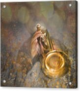 On Stage The Trumpeter Acrylic Print