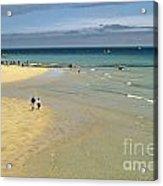 On The Beach St Ives Acrylic Print by David Davies