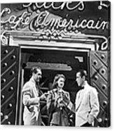 On The Casablanca Set Acrylic Print