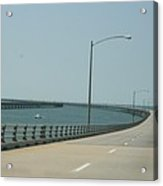 On The Chesapeake Bay Bridge Acrylic Print