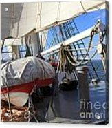 On The Deck Of A Sailing Ship Acrylic Print