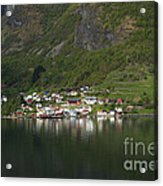 On The Edge Of The Fjord Acrylic Print