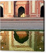 On The Grounds Of The Taj Mahal Acrylic Print