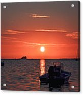 On The Gulf At Sunset Acrylic Print